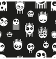 Cute ghost monsters seamless pattern vector image vector image