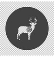 deer silhouette with target icon vector image vector image
