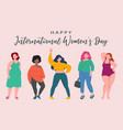 diverse female characters international womens vector image vector image