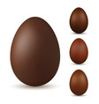 easter egg 3d chocolate brown eggs set isolated vector image