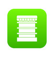 empty supermarket refrigerator icon digital green vector image