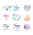 fashion luxury boutique set for logo design vector image