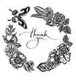 floral wreath black and white poppy flower vector image vector image