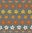 flower stripes colorful blossoms on a gray vector image vector image
