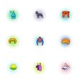France Republic icons set pop-art style vector image vector image