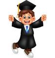 funny graduation boy cartoon vector image vector image