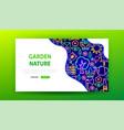 garden nature neon landing page vector image