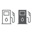 gas station line and glyph icon fuel and gasoline vector image