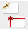 gift card color bow isolated transparent vector image