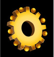 gold gear setting icon vector image vector image