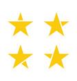 gold star set vector image