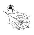 halloween spider web vector image vector image
