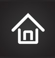 home house on black background vector image
