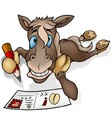 Horse and Postcard vector image vector image