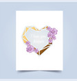 i love you greeting card valentins day vector image vector image