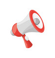 isolated cute megaphone vector image vector image