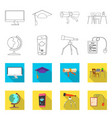 isolated object of education and learning symbol vector image vector image