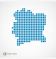 ivory coast map and flag icon vector image