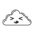 kawaii cloud cartoon vector image vector image