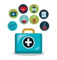 kit icons healthcare medicine design isolated vector image vector image