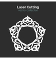 Laser Cutting Template Round Card Die Cut