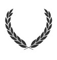 laurel wreath icon placed on white vector image vector image
