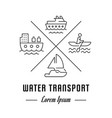 line banner water transport vector image