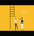man drawing ladder vector image