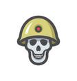 military skull soldier icon cartoon vector image