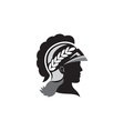 Minerva Head Side Silhouette Retro vector image vector image