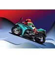 motorbike racing vector image vector image