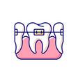 orthodontics rgb color icon vector image vector image
