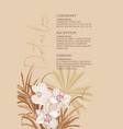pampas realistic watercolor orchid flowers and vector image