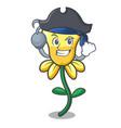 Pirate daffodil flower character cartoon