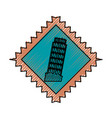 pisa tower building vector image