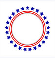 round frame logo with american symbols vector image