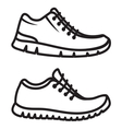 Running shoes icons line vector image vector image