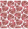 seamless abstract heart pattern vector image vector image