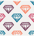 seamless cute colorful pattern with vintage vector image