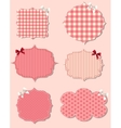 set of different Valentines dey labels design vector image