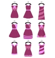 Set of female dresses vector image