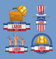 set of labor day elements vector image vector image