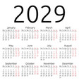 simple calendar 2029 monday vector image vector image