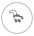 skunk black icon outline in circle image vector image vector image