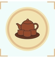 Tea set icon vector image vector image