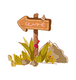The sign post on the street vector image vector image