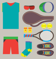 Top View Tennis Men Gears vector image