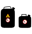 two canisters vector image