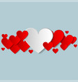 valentines day creative background with vector image vector image