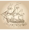Vintage sailboat vector image